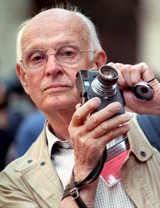 Henri Cartier-Bresson widely regarded as one of the great photographers of the 20th century has died aged 95 file photograph