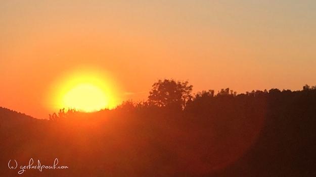 Sonnenuntergang in Bayern mit einem Iphone aufgenommen