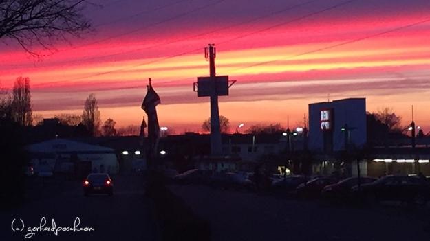 Sonnenuntergang in Bonn mit dem iPhone aufgenommen
