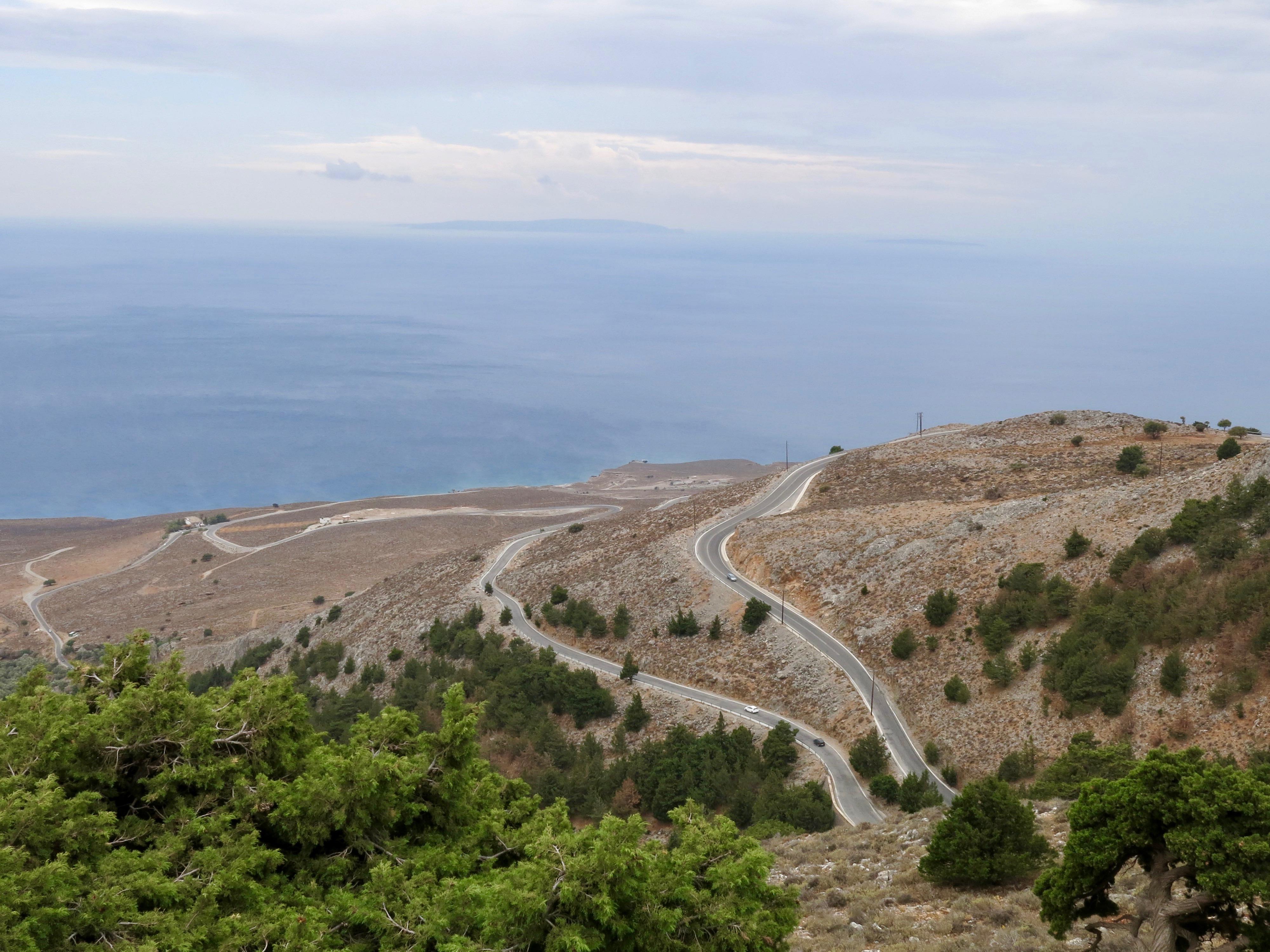 Block von der Askifou Hochebene aufs Meer